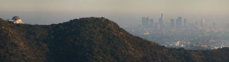 Air pollution in downtown Los Angeles